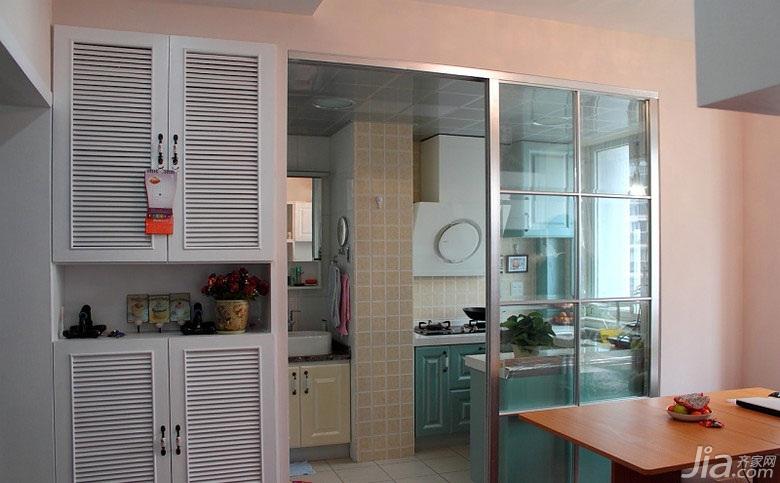 田园风格一居室40平米厨房装修图片