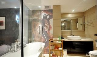 简约风格三居室20万以上主卫洗手台效果图