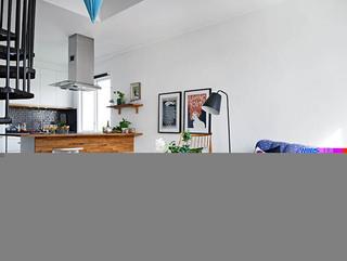 公寓50平米客厅吧台沙发效果图