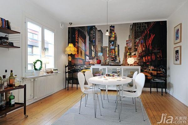 公寓另类经济型餐厅餐厅背景墙餐桌图片