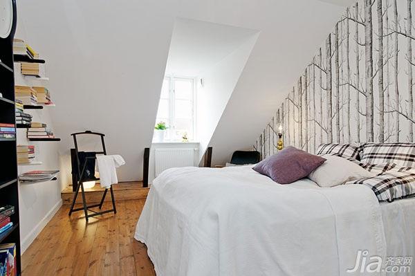 公寓舒适经济型卧室卧室背景墙床图片