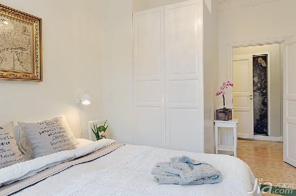 简约风格公寓浪漫80平米卧室床图片