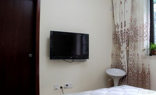 简约风格二居室50平米电视背景墙设计图