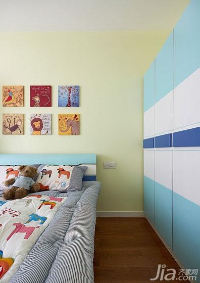 简约风格三居室120平米儿童房衣柜图片