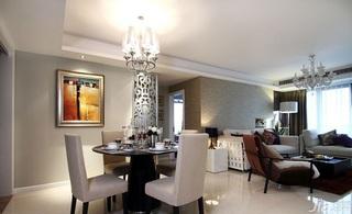 简约风格四房140平米以上餐厅灯具效果图