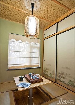 美式乡村风格三居室120平米吊顶榻榻米效果图