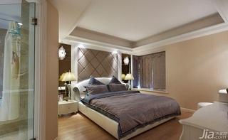 混搭风格三居室140平米以上卧室设计