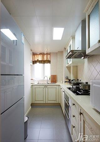 简约风格二居室90平米厨房橱柜安装图
