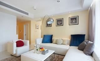 简约风格二居室90平米客厅沙发婚房平面图