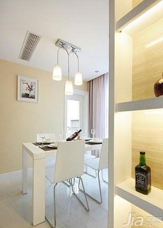 简约风格二居室90平米餐厅餐桌婚房家装图片