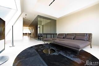 简约风格公寓稳重咖啡色沙发效果图