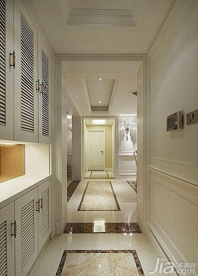 欧式风格三居室白色富裕型玄关玄关柜图片