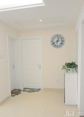 混搭风格二居室白色90平米过道婚房家装图片