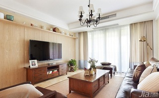 欧式风格四房富裕型电视背景墙茶几图片