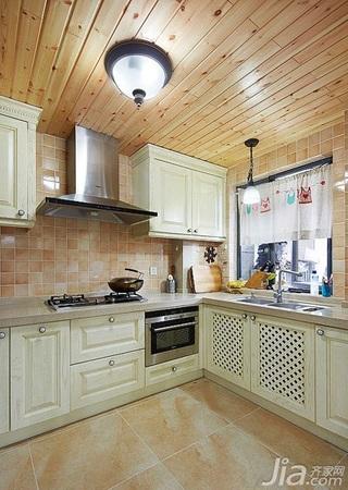 欧式风格四房富裕型厨房吊顶橱柜效果图