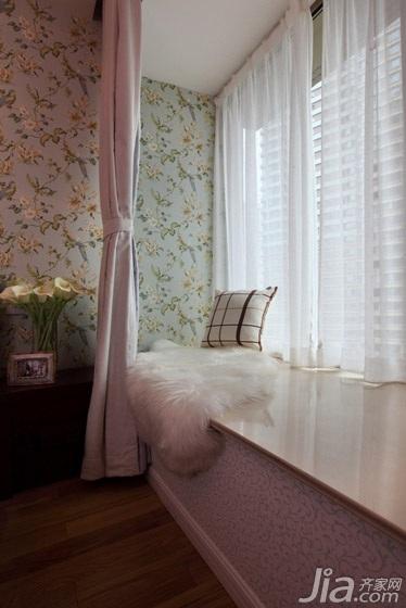一居室温馨经济型80平米卧室卧室背景墙窗帘效果图