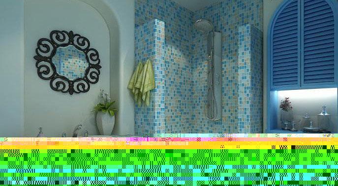 地中海风格5-10万50平米客厅背景墙装修效果图