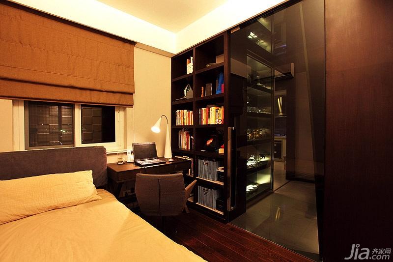 简约风格二居室暖色调经济型卧室床效果图
