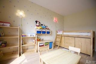 混搭风格四房可爱暖色调儿童房儿童床效果图
