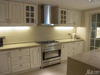 简约风格公寓简洁白色140平米以上厨房餐桌效果图