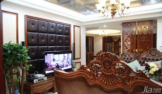 欧式风格四房140平米以上客厅电视背景墙设计图纸