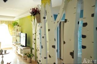 地中海风格三居室120平米隔断装修效果图