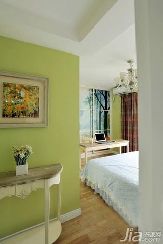 地中海风格三居室120平米卧室设计图