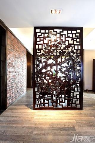 混搭风格二居室古典原木色90平米餐厅屏风效果图