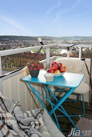北欧风格一居室温馨阳台餐桌效果图