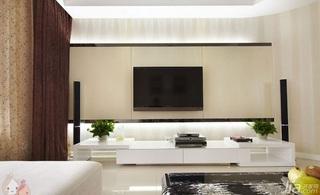 简约风格三居室120平米电视背景墙设计