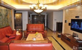 欧式风格三居室富裕型客厅灯具效果图