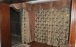 欧式风格三居室富裕型阳台窗帘图片