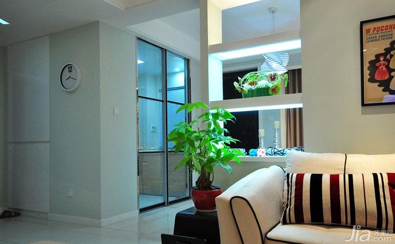 简约风格二居室富裕型厨房沙发效果图