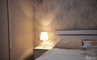 简约风格二居室富裕型卧室卧室背景墙衣柜效果图