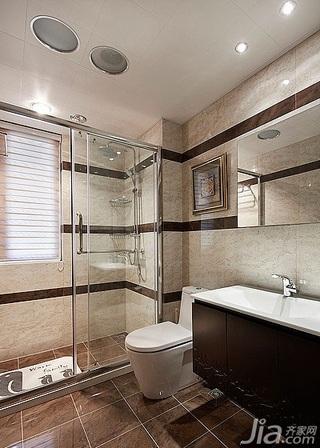 简约风格三居室140平米以上主卫洗手台效果图