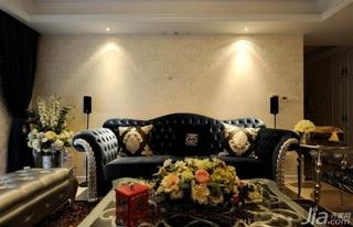 欧式风格公寓奢华暖色调富裕型客厅沙发效果图