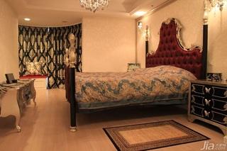 欧式风格公寓古典暖色调富裕型卧室床效果图