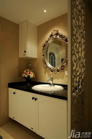 欧式风格公寓简洁富裕型卫生间洗手台效果图
