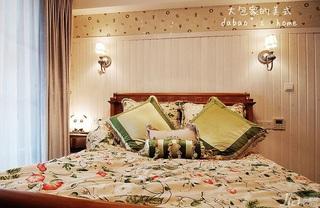 美式乡村风格复式140平米以上卧室卧室背景墙床效果图