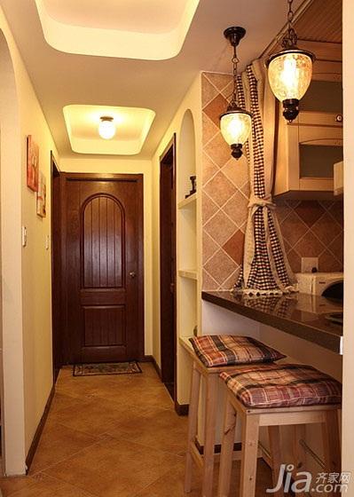 混搭风格二居室90平米过道装修效果图高清图片