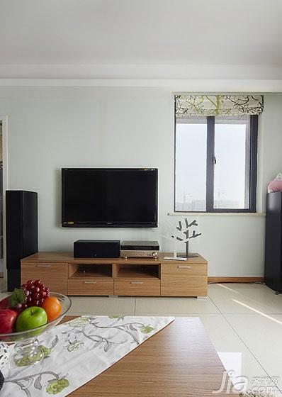 简约风格三居室15-20万电视柜效果图