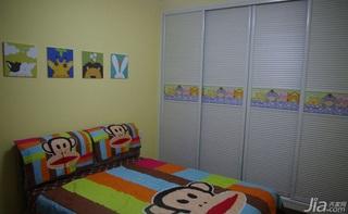 混搭风格二居室70平米儿童房衣柜设计