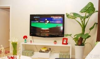 简约风格15-20万90平米电视背景墙电视柜效果图