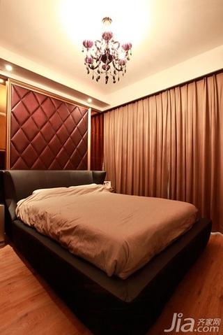 简约风格二居室时尚暖色调100平米卧室卧室背景墙灯具效果图
