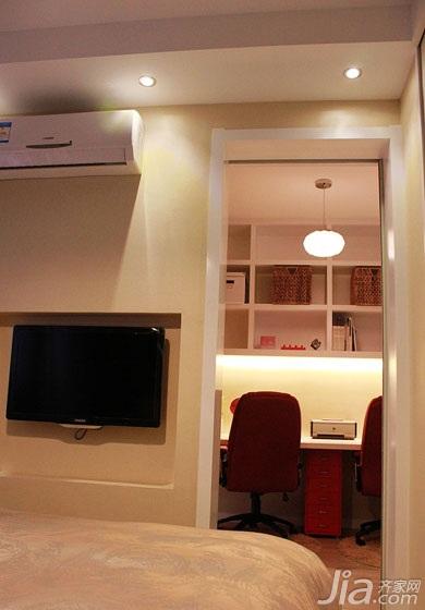 简约风格二居室80平米电视背景墙效果图