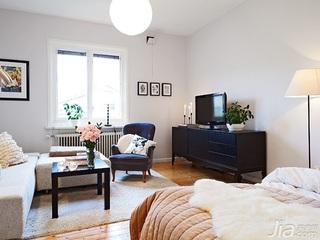 公寓40平米客厅电视柜图片