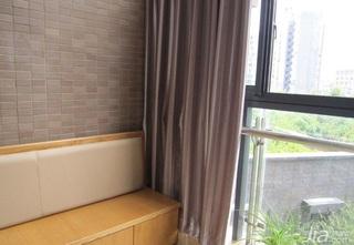 简约风格三居室90平米阳台窗帘图片