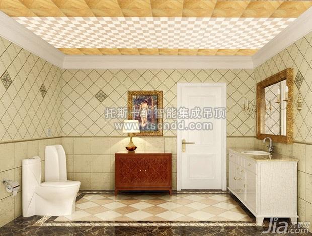 复古卫生间装修效果图