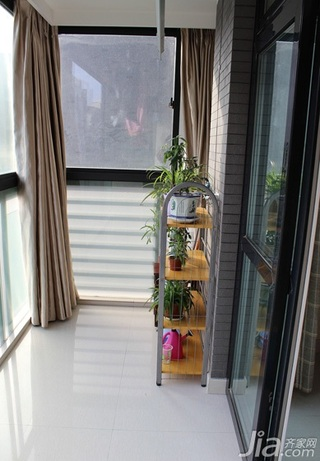 简约风格三居室120平米阳台窗帘效果图