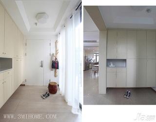 三米设计简约风格白色富裕型140平米以上门厅玄关柜效果图